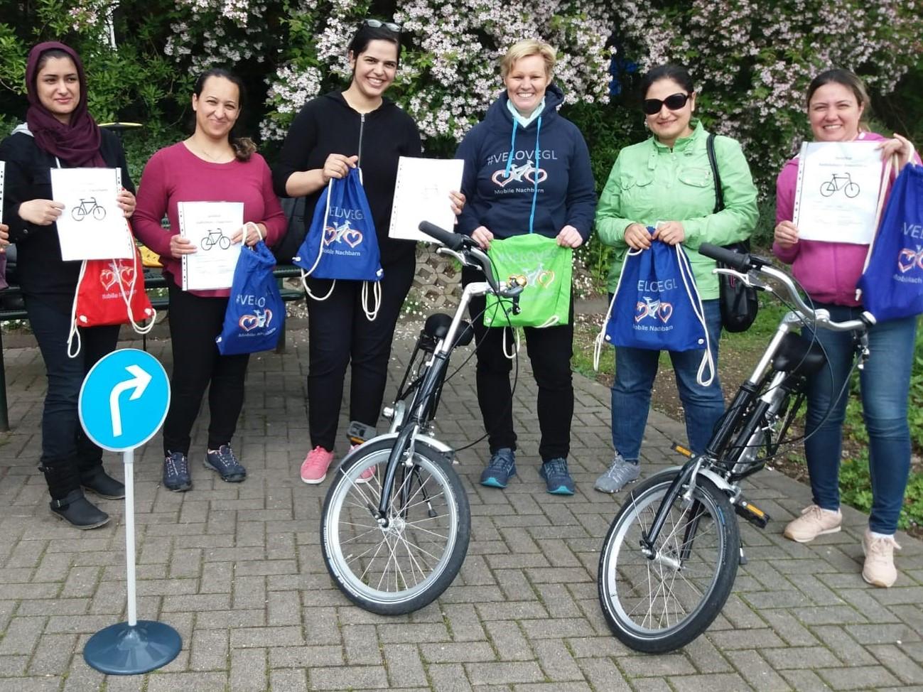 Radfahrschule für (geflüchtete) Frauen